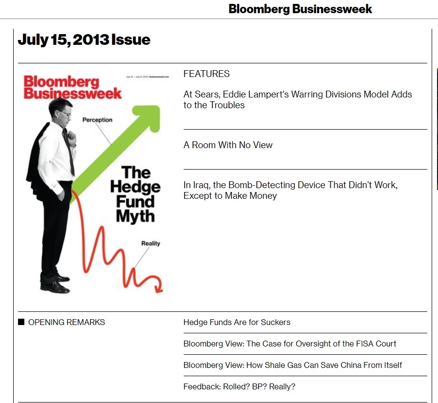 Bloomberg The Hedge Fund Myth